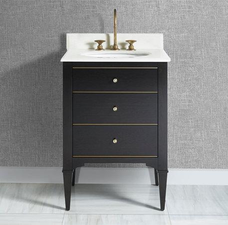 "Fairmont Charlottesville 24"" Vanity w/ Brass Detail"