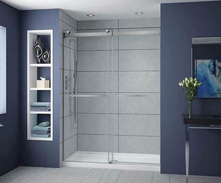 Fleurco Gemini Plus Bypass Shower Glass Door