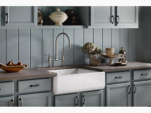 Kohler Whitehaven Single Bowl Farmhouse Kitchen Sink
