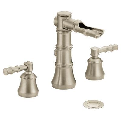 "Moen Bamboo 8"" Lav Faucet - Brushed Nickel"