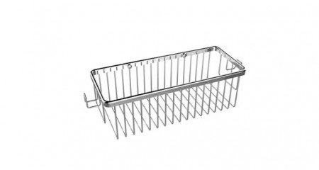 Rectangular Shower Basket with Hooks