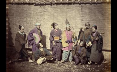 Street Actors - hand colored print 1866/67