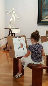 Girl drawing a Figure