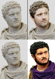 Two reconstructions of the Caracalla Bust