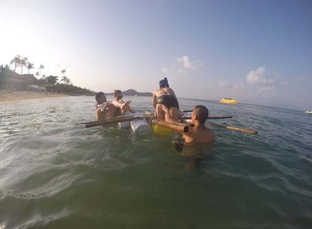Raft building activity on Koh Samui with Morgan McKinley