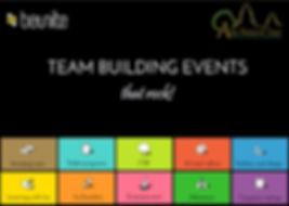Team building event brochure