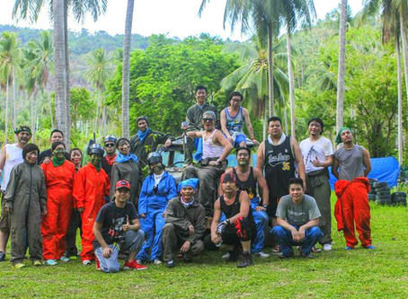 Exhilarating outdoor team building event on Koh Samui with paintball and zipline