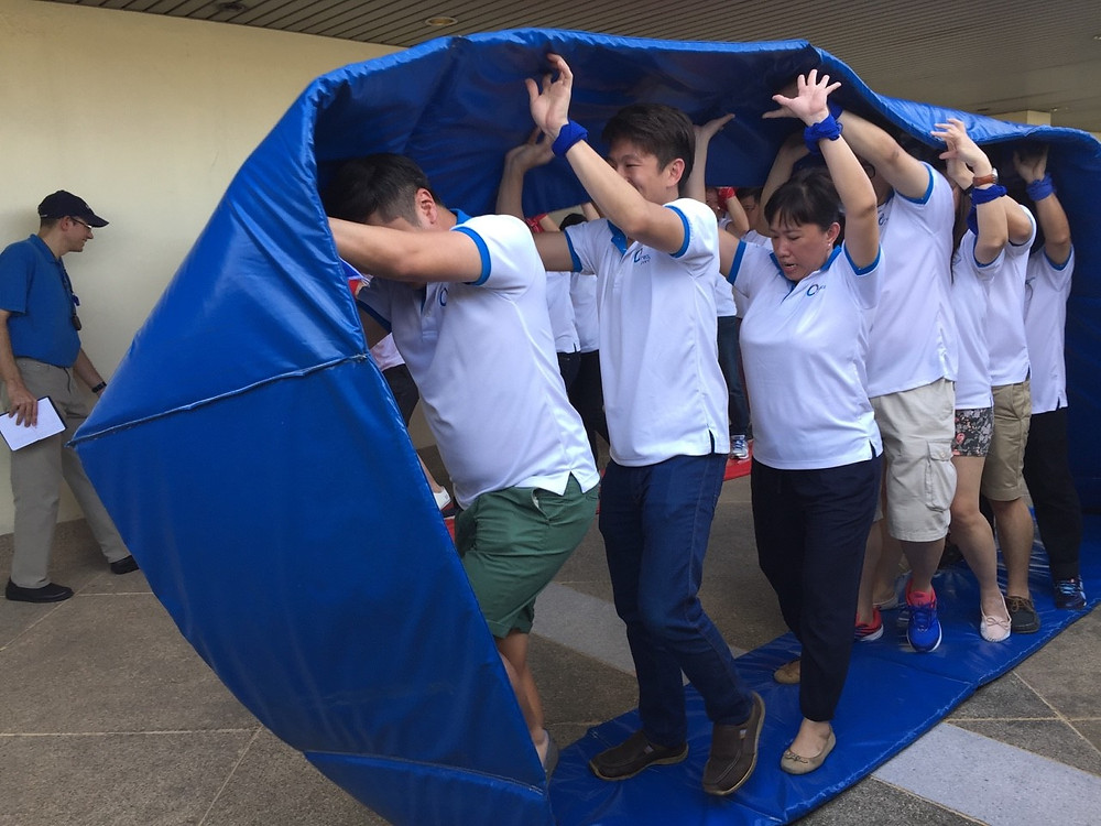 Human Hamster Wheel, a fun and physically demanding team building activity