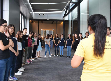 Indoor Team Building in Bangkok with Santen at Compass Sky View Hotel