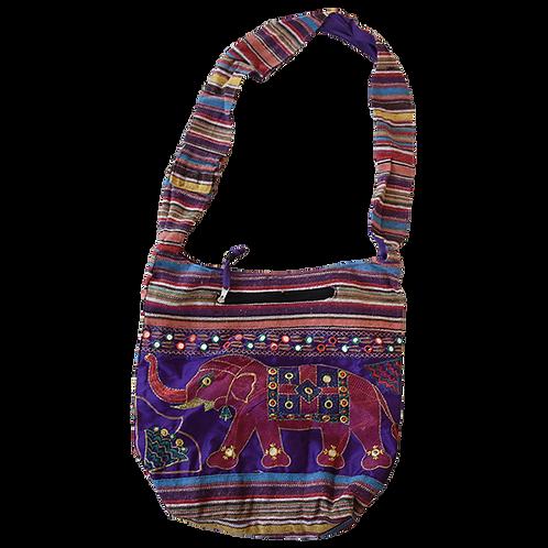 Purple elephant bag with stap