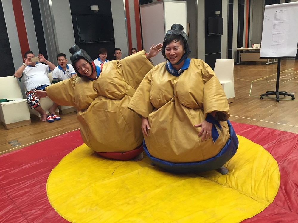Sumo Wrestling, who wouldn't want to push their boss off the mat?