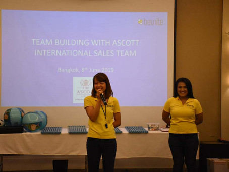 "Bangkok Indoor team building ""The cohesive team"" with Ascott International"