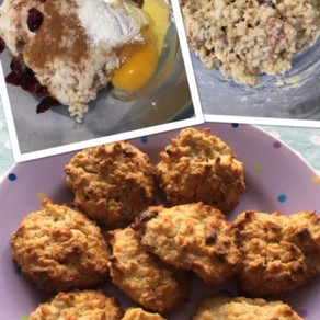 How to avoid food waste-                       Porridge & Cranberry biscuits