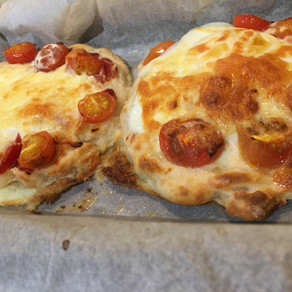 Quick, 2 Ingredient Pizza Recipe ( save time, have fun & create your own!)
