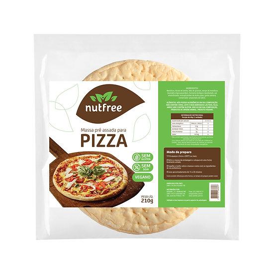 Massa para pizza SEM GLÚTEN, SEM LEITE, VEGANA.
