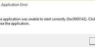 Fix error 0xc0000142 on WIN10