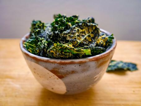 Zesty Crunchy Kale Chips