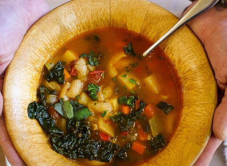 Amazing Minestrone Soup (V+GF) Recipe by Chef Ras Ram