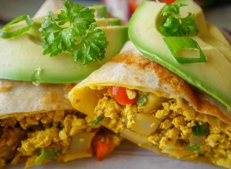 Tasty Tofu Scramble Breakfast Burrito