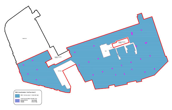 Example of area calculation drawing by MobileCAD to IPMS Calcualtions