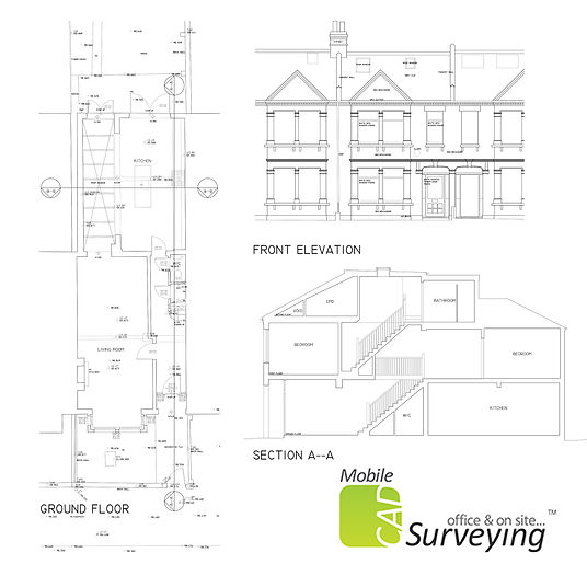 Residential Measured Building Survey drawings by MobileCAD
