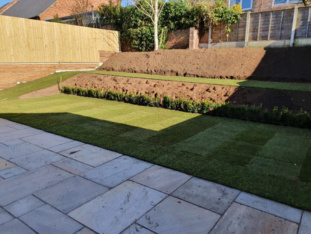 New landscaped gardens at the Carrington - Acomb!