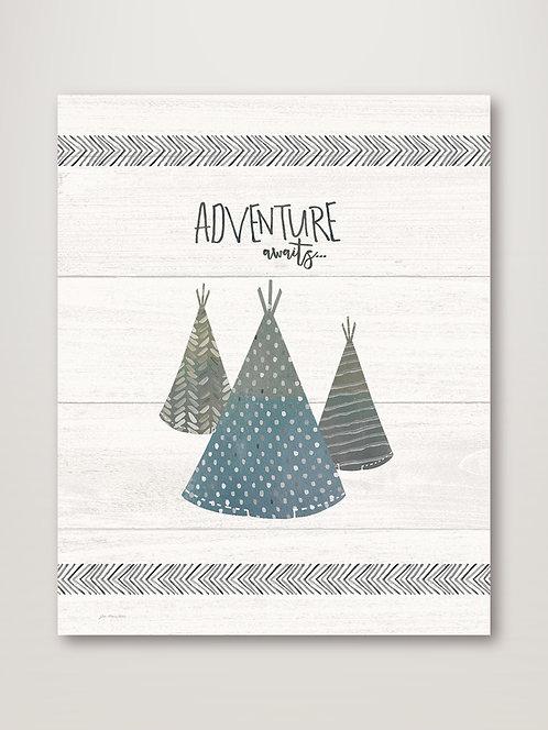 Adventure Awaits - Grey