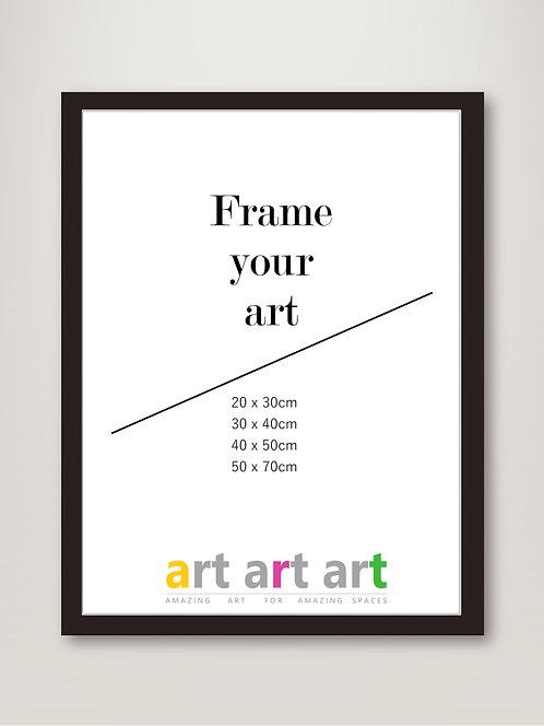 50x70cm Black Frame