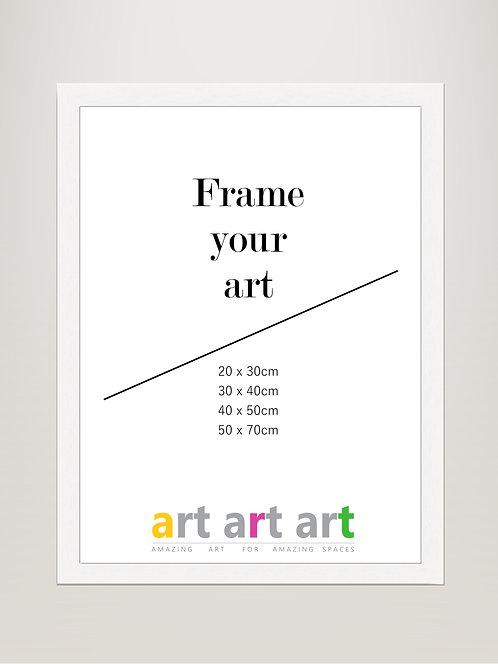 30x40cm White Frame