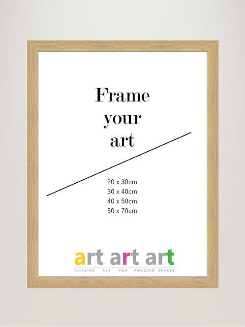 40x50cm Oak Frame
