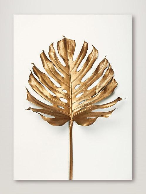 Monstera Leaf Gold