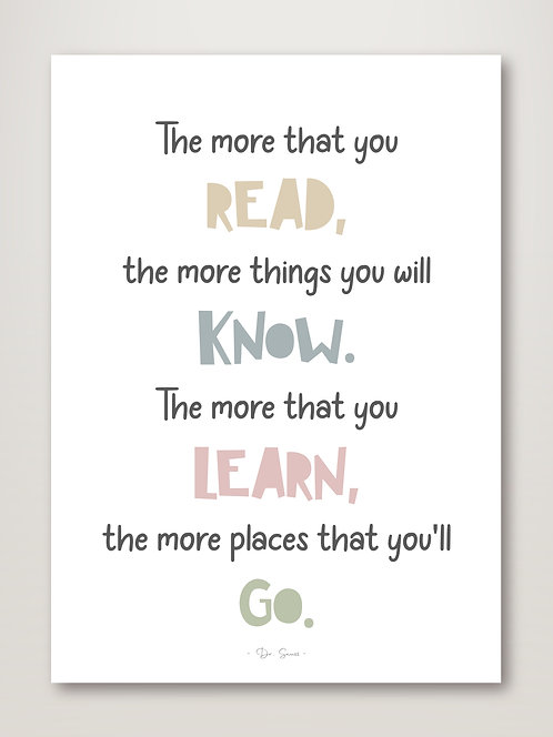 Read, Learn, Know, Go