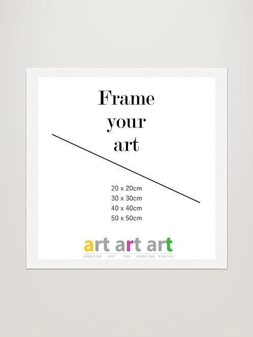 30x30cm - White Frame