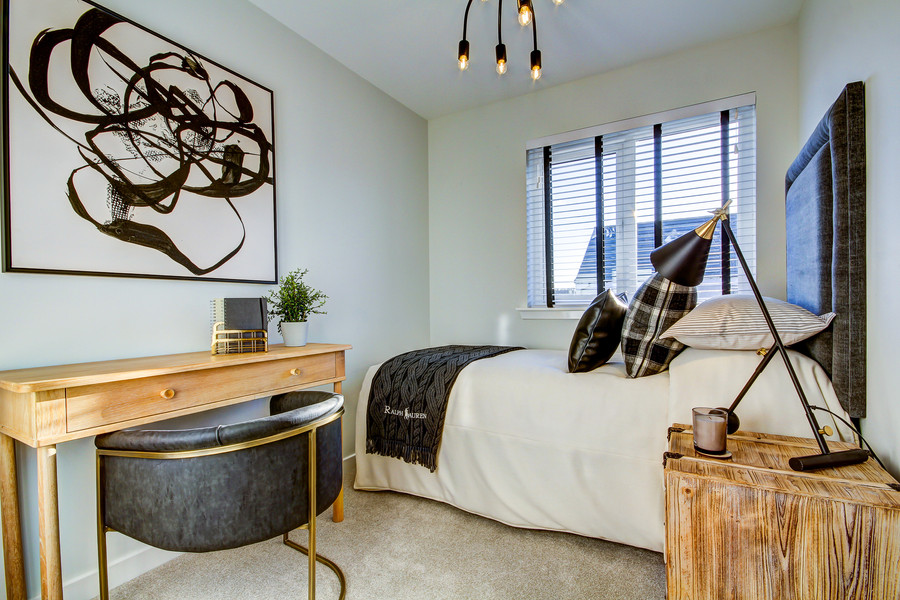 ABSTRACT IN A BEDROOM - SHOW HOME