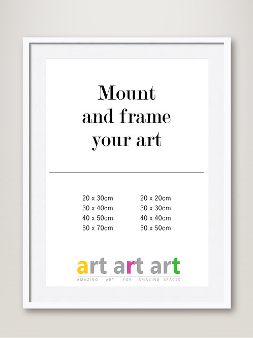Mount and White Frame