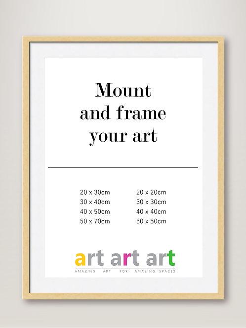 Mount and Oak Frame