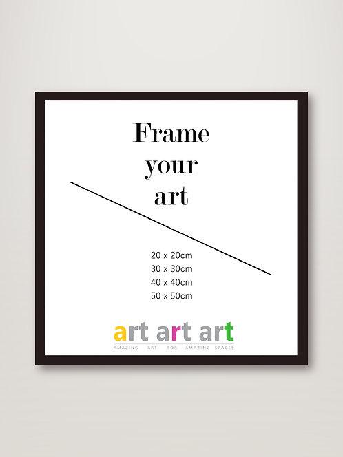 50x50cm - Black Frame
