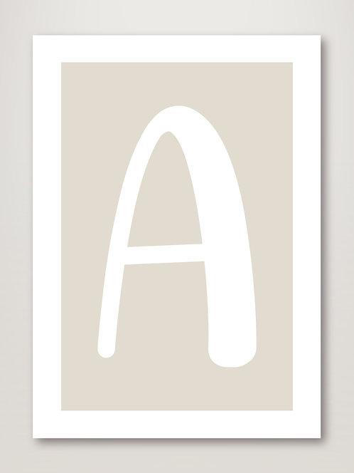 Neutral Alphabet Letter