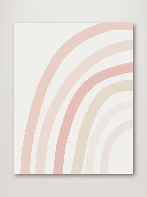 Pastel Half Rainbow - Left