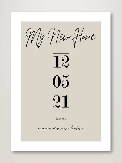 My New Home - Personalised