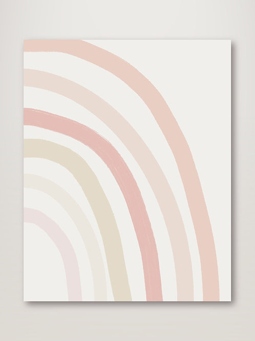 Pastel Half Rainbow - Right