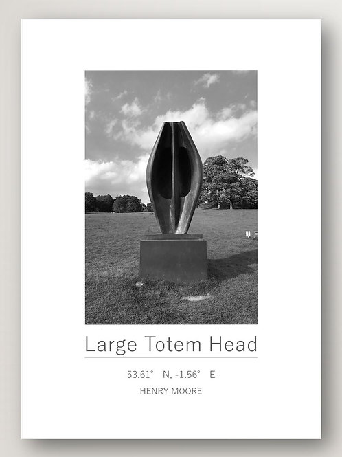 Large Totem Head - Henry Moore