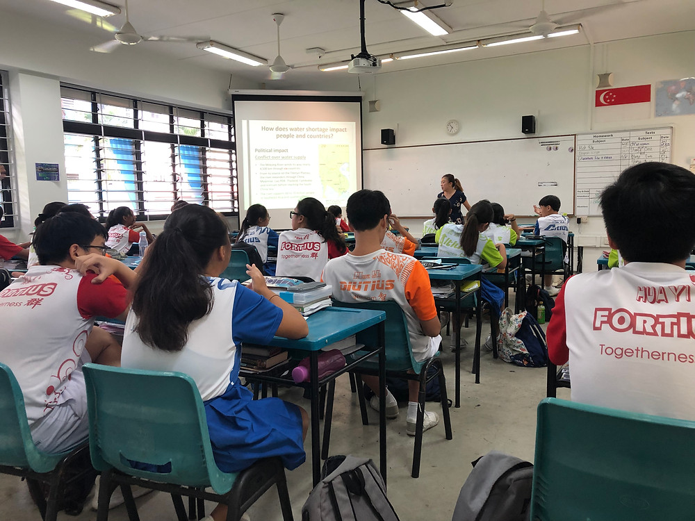 A Geography lesson taking place in Singapore
