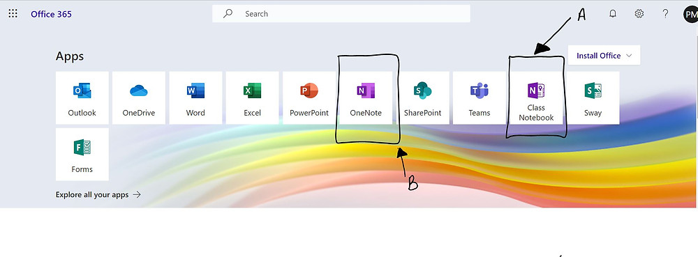 A screenshot showing Office365
