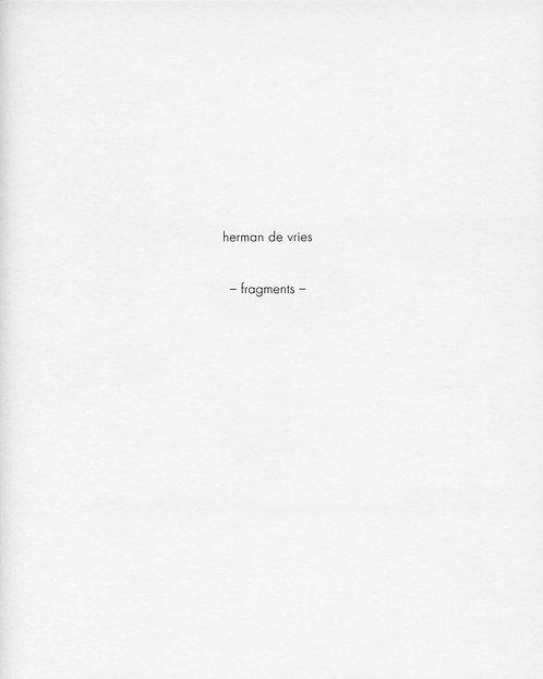 Herman de Vries – Fragments