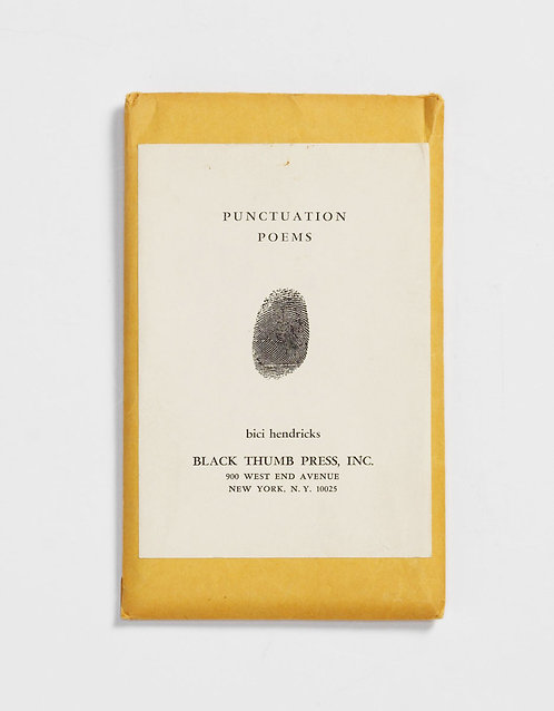 Punctuation Poems by Bici Hendricks