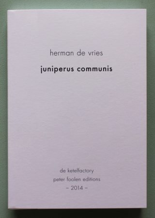 Herman de Vries – Juniperus Communis/Die Wiese editie