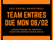 Social Team Entries Due