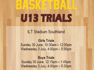 Southland U13 Trials