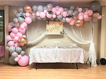 Pastel Pink and Gray Garland